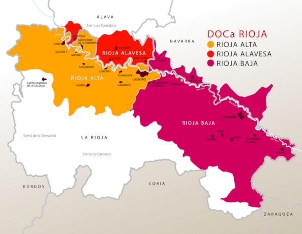 Mapa DO Rioja
